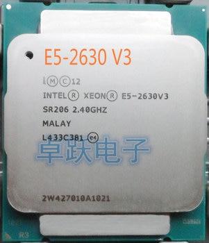 Оригинальный процессор Intel Xeon E5 2630 V3, 2,40 ГГц, 8 ядер, 20 Мб кэш-памяти, E5-2630V3, V3 DDR4, 1866 МГц, FSB, E5-2630, 85 Вт, E5, 2630V3