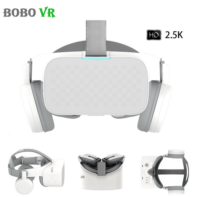 BOBOVR X6 מציאות מדומה כל אחד VR משקפת 2.5K HD VR אוזניות אנדרואיד 16GB 3D משקפיים קסדת immersive 5.5 LCD WIFI BT