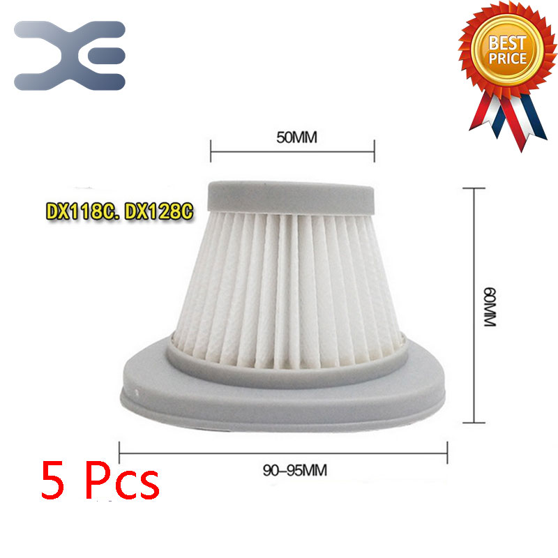 5Pcs Lot High Quality Adaptation For Deerma DX118C / DX128C Vacuum Cleaner Accessories Filter Haipa HEPA Filter