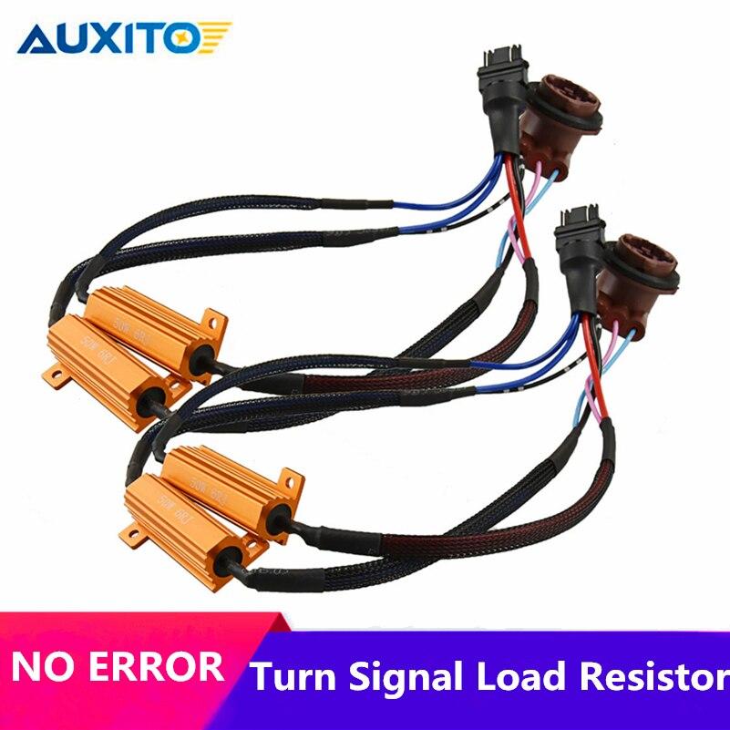 2 шт. автомобиль резистор Canbus BA15S 1156 1157 3157 7443 7440 светодиодный светильник ошибок нагрузочный резистор Предупреждение декодер компенсатора ак...
