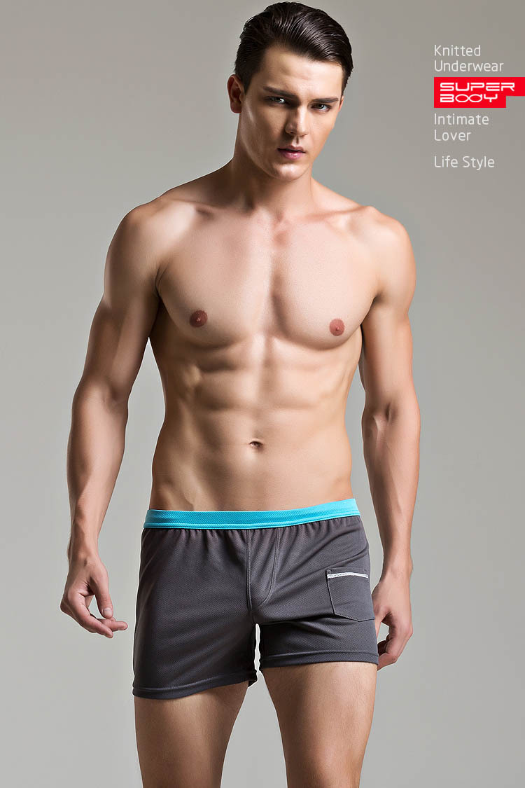 Sexy Lingerie plus size Boxer Shorts panties underwear cottton sports short sleepwear masculina de marca homme men