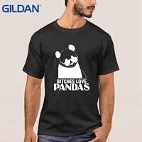 Новые Али футболки без суки Любовь Панды Милые серые Рубашка с короткими рукавами для Для мужчин футболка 100% хлопок