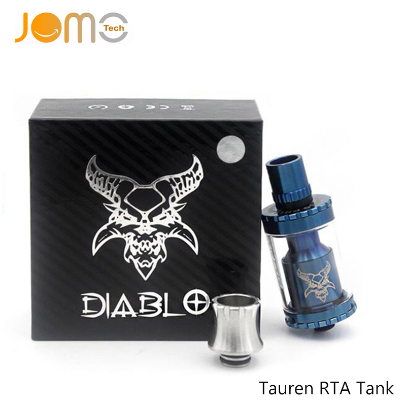 510 Thread Silver/Black/Blue Tauren RTA Tanks Rebuildable Atomizers 3ML Tauren RTA Vaporizer Atomizers Fit All Box Mod Jomo-85