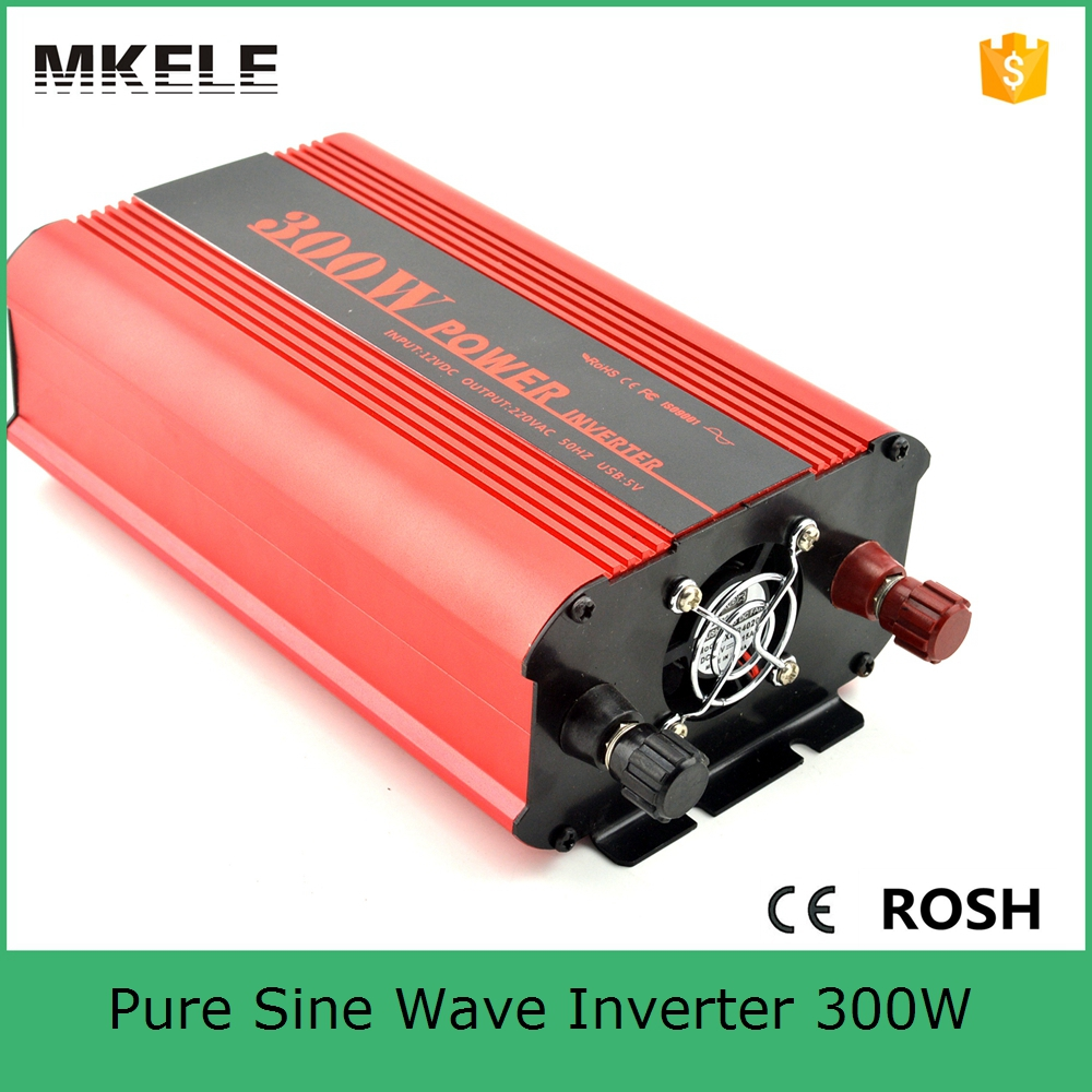 купить MKP300-121R cheap power inverter 300w power inverter 12v dc to 110vac single output pure sine wave form with CE ROHS certificate по цене 2594.1 рублей