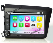 Car GPS radio navigation DVD for Honda Civic 2012-2013 with Bluetooth, Ipod 3G DVR 1080P