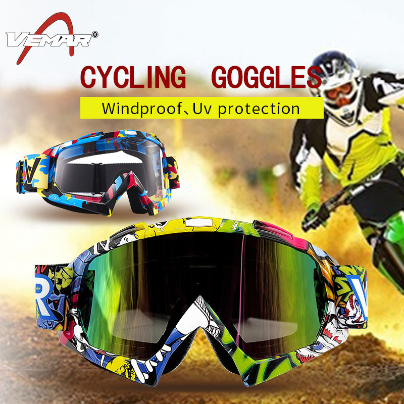 MyArmor GXT Motorcycle//Skiing Goggles Glasses Detachable Protect Padding Eyewear UV Protective Snowboard Cycling Bike Road BMX Windproof Racing Sports Sunglasses