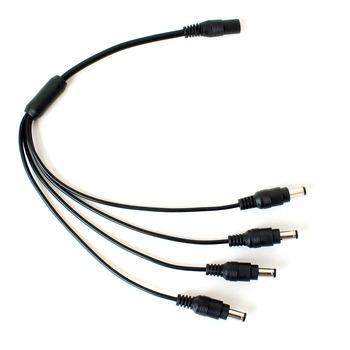 DEFEWAY Surveillance DC 1 do 4 kabel rozdzielacza mocy CCTV 4 męski na 1 żeński przewód do kamera telewizji przemysłowej akcesoria do monitoringu tanie i dobre opinie CN (pochodzenie) 35cm Brak S-4-in-1 power splitters Kable Black