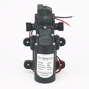"""1/2"""" BSP Male 12V DC 80W Diaphragm Water Pump Self-priming Booster With Automatic Pressure Switch 330L/H Home Garden(China)"""