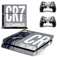 Cristiano Ronaldo PS4 Skin Sticker Decal Vinyl for Sony Playstation 4 Console and 2 Controllers PS4 Skin Sticker