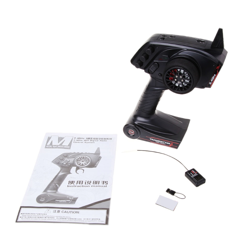 High Quality 3CH 2.4GHz Remote Control Transmitter with Receiver for RC Car Boat Parts M15