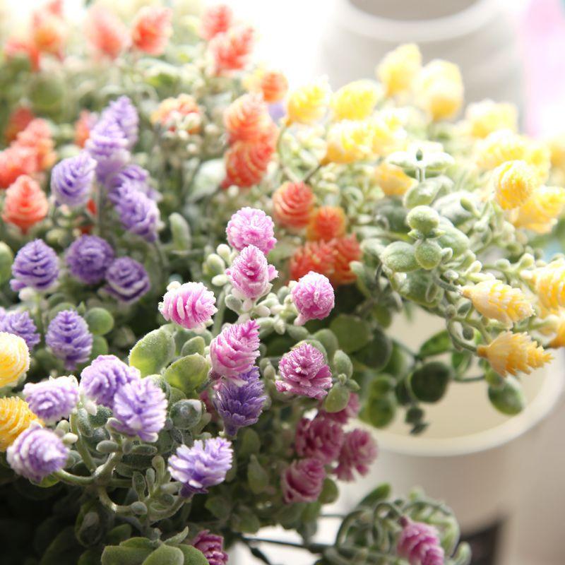1 Demet Yapay Çiçek çam kozalağı Buket Akın Plastik Kırsal - Tatiller ve Partiler Için - Fotoğraf 4