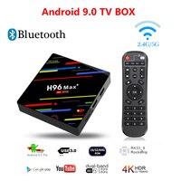 H96 MAX+ Smart TV BOX Android 9.0 TV BOXES IPTV Box 4K Media Player 4G 64GB WIFI Set Top Box For 4K Youtube Netflix Google Play