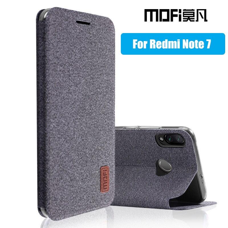 for Xiaomi Redmi Note 7 case flip cover silicone back coque full protective phone cases MOFi original redmi note7 pro case redmi note 7 pro cover