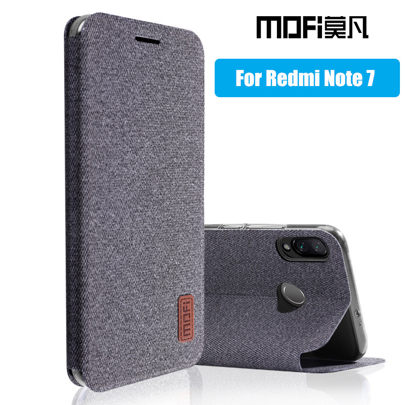 Für Xiaomi redmi note 7 fall flip-cover silikon zurück coque volle schutz phone cases MOFi original redmi note 7 pro fall