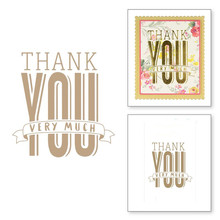 Thank You Very Much Metal Hot Foil Plate for DIY Scrapbooking Letterpress Embossing Paper Cards Making Crafts Supplies New 2019