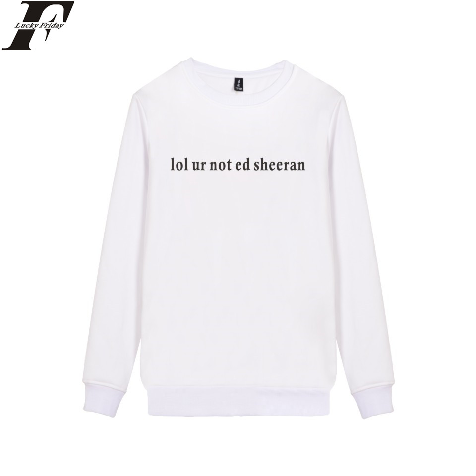 LUCKYFRIDAYF ED Sheeran Sweashirt Winter Soft Cotton High Quality Pullover XXS-4XL Fashion Streetwear Girls Cute Sweatshirts