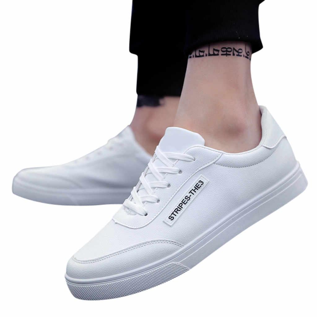 ฤดูร้อนรองเท้าผู้ชาย 2019 ฤดูใบไม้ผลิใหม่แฟชั่นสบายๆรองเท้ากีฬาแฟชั่นเรียบง่ายเดินรองเท้าผ้าใบ