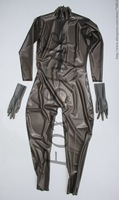 Латекс облегающий комбинезон ручной работы пикантные прозрачные резиновые Боди плотный костюм для женщин 100% Природа Фокс Стиль Trasaprent черн
