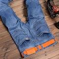 2016 Caliente de La Manera Recta Denim Jeans Hombres Pantalones Delgados Clásicos Pantalones Vaqueros Ocasionales de Los Hombres Slim Fit Pantalones Vaqueros Hombre