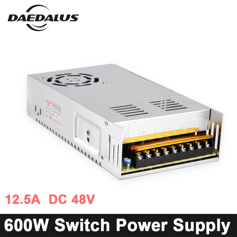 Ac110 220v Input Voltage Switching Power Supply 12a Dc48v Output Cnc 600w 125a Dc 48v Source Adjustable Adapter Ac110v