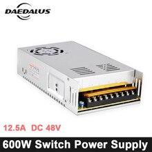 CNC 600 Вт Импульсные блоки питания 12.5A DC 48 в источник питания адаптер с регулируемой мощностью вход напряжение AC110V/220 для гравер станок