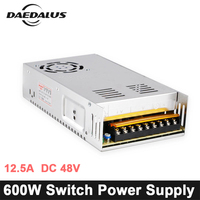 CNC 600W Switching Power Supply 12.5A DC 48V Source Adjustable Power Adapter Input Voltage AC110V/220V For Engraver Machine Tool