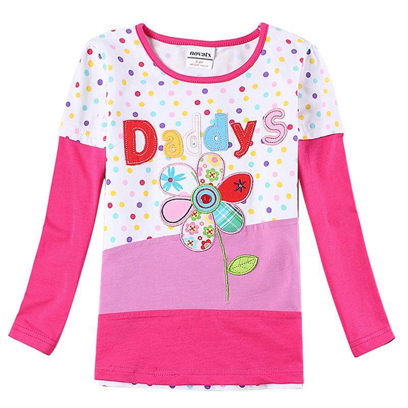Novatx children clothing girls t shirts kids clothes