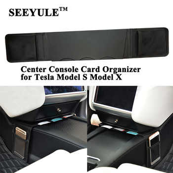 1pc SEEYULE Car Center Console Storage Bag Card Organizer Phone Holder Armrest Box Accessories for Tesla Model S Model X - DISCOUNT ITEM  29% OFF Automobiles & Motorcycles