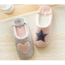 Cute Winter Women Home Slippers For Indoor Bedroom House Soft Bottom Cotton Warm Shoes Adult Guests Flats Christmas Gift