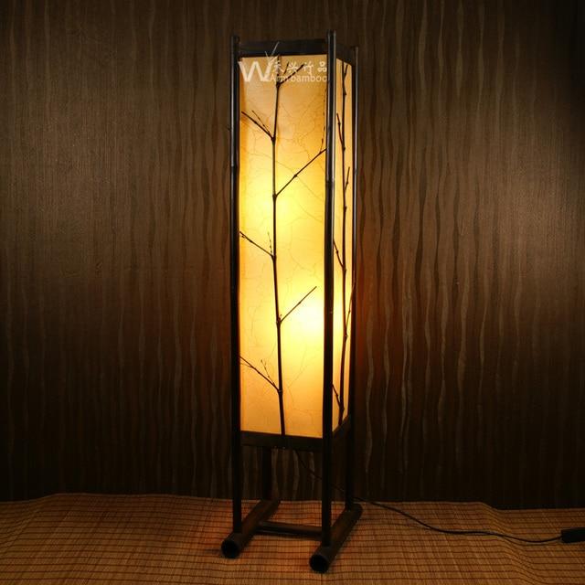 Imitaci n de estilo japon s l mpara de pie l mparas de - Como hacer lamparas de pie ...