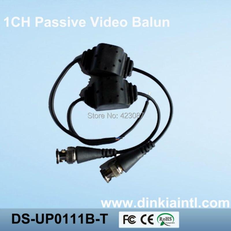 200PCS Water-proof Design UTP Passive Video Balun single channel CCTV video balun,special Alloy BNC DS-UP0111B-T single channel passive video balun grey silver 2 pcs