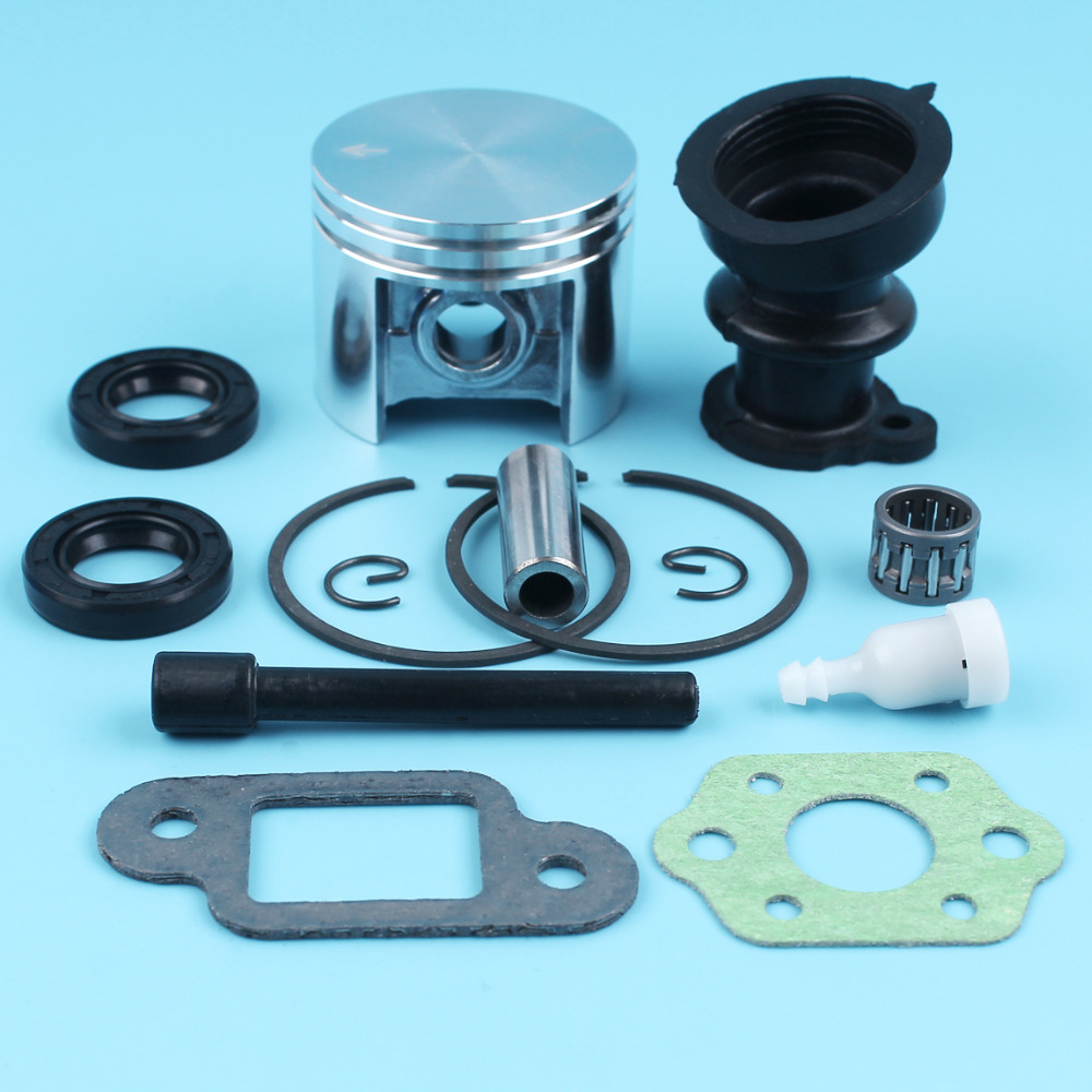 42.5mm Piston Kit W/ Intake Manifold Oil Seals Vacuum Line Gasket For STIHL 025 MS250 MS 250 Chiansaw Fuel Tank Vent Needle Cage