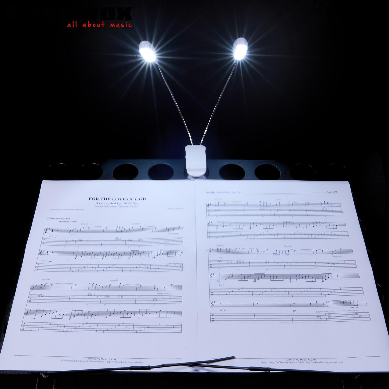 aliexpress white music stand light clip led book light