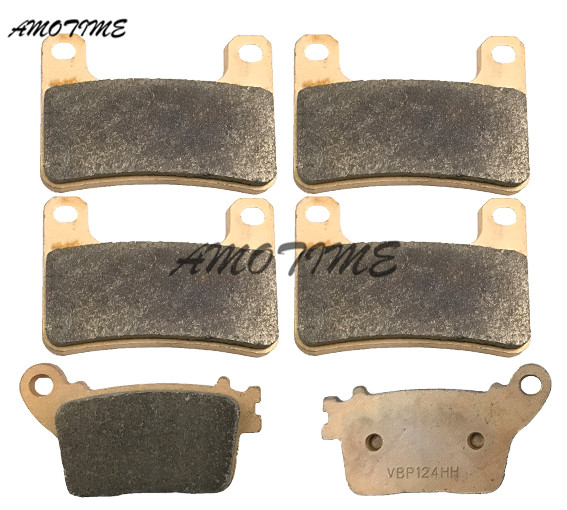Motorcycle Parts Copper Based Sintered Motor Front & Rear Brake Pads For Kawasaki ZX10R ABS ZX 1000 2011-2014 12 13 sintered copper motobike disks fa379 motorcycle brake pads for kawasaki z 1000 sx zr 1000 gbf 2011