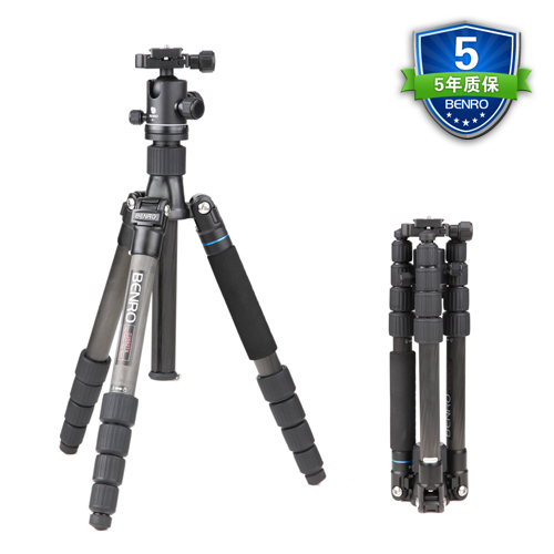 Benro C2692TB1S SLR Camera Bracket Carbon Fiber Tripod Folding Tripod Multifunctional Support For Photography Professional Tripo benro c38tds2 carbon fiber tripod kit bird watching monopod kit professional video camera slr tripod stable support for canon