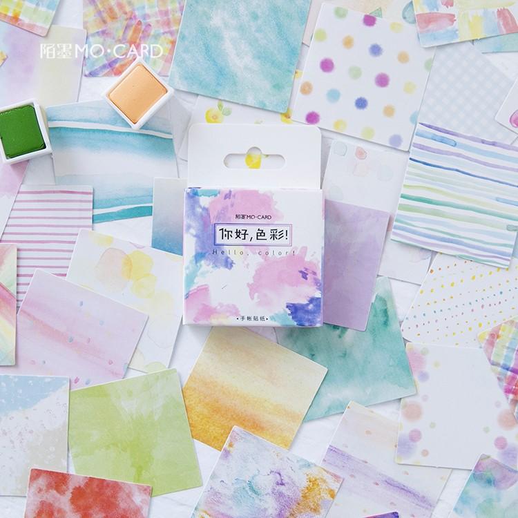 Hello Color Decorative Stickers Set Adhesive Stickers DIY Decoration Craft Scrapbooking Stickers