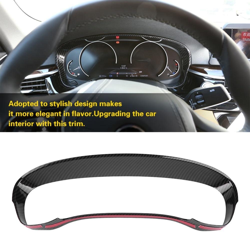 font b Car b font Carbon Fiber Style Dashboard Decoration Cover Trim Frame for BMW