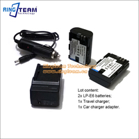 LP E6 E6N LP E6N Battery 2x & Charger Kit for Canon EOS 5D 2 3 5DS 5DSR Mark II III 6D 7D 7DII 60D 60Da 70D 80D XC10 DSLR Camera
