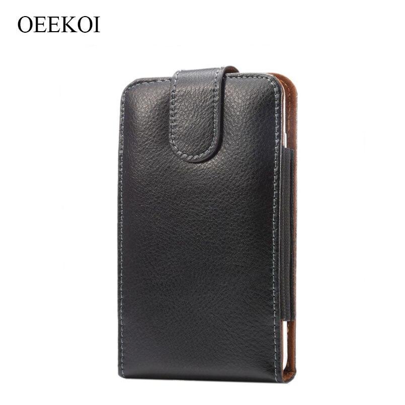 OEEKOI Genuine Leather Belt Clip Pouch Cover Case for BLU Studio Mega/X 6/XL 2/XL LTE/Vivo X/Neo XL/Pure XL/Neo XL/Pure XL