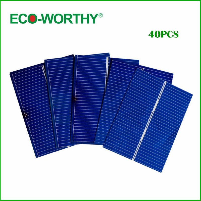 ECO-WORTHY 40pcs 52x39 Solar Photovoltaic Cells Kits DIY Solar Panel for Home Application System