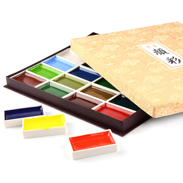 Free shipping Nakagawa Phoenix College level solid watercolor pigments suit 24/18/12 color