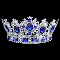 High grade Gorgeous Large Tiara Wedding Bridal Crowns Rhinestone Crystal Bride Headband Pageant Party Hair Accessories Big Crown
