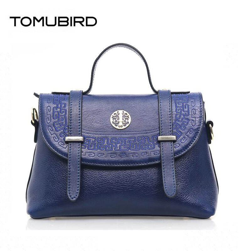 TOMUBIRD Superior cowhide Embossed luxury handbags women bags designer women genuine leather handbags tote bag