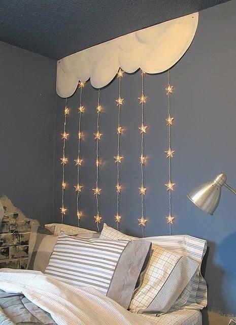 2016 Bed Wanddecoratie Sterren Gordijn String Licht, Kids Slaapkamer ...