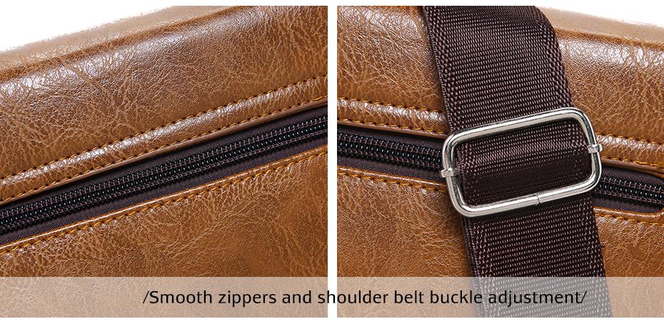 Men's Fashion Leather Messenger Bag