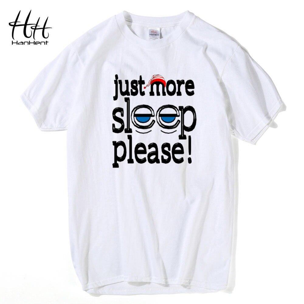 Desain t shirt unik - Hanhent Hanya Lebih Tidur Silakan Surat Dicetak T Kemeja Pria Desain 2016 Musim Panas Busana Pria