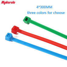 4*300mm Colorful nylon cable ties cable wire tie Self-Locking plastic tie zip ties 100PCS/Bag and 3 colors for choose цена и фото
