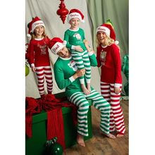 Одинаковые комплекты для семьи; Рождественская одежда; домашняя одежда для папы, мамы и ребенка; пижамный комплект из 2 предметов; Хлопковая пижама