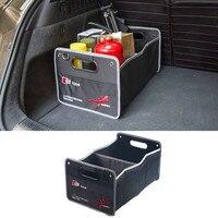 Car Multi Pocket Organizer Large Capacity Folding Storage Bag Trunk Stowing For Audi LOGO