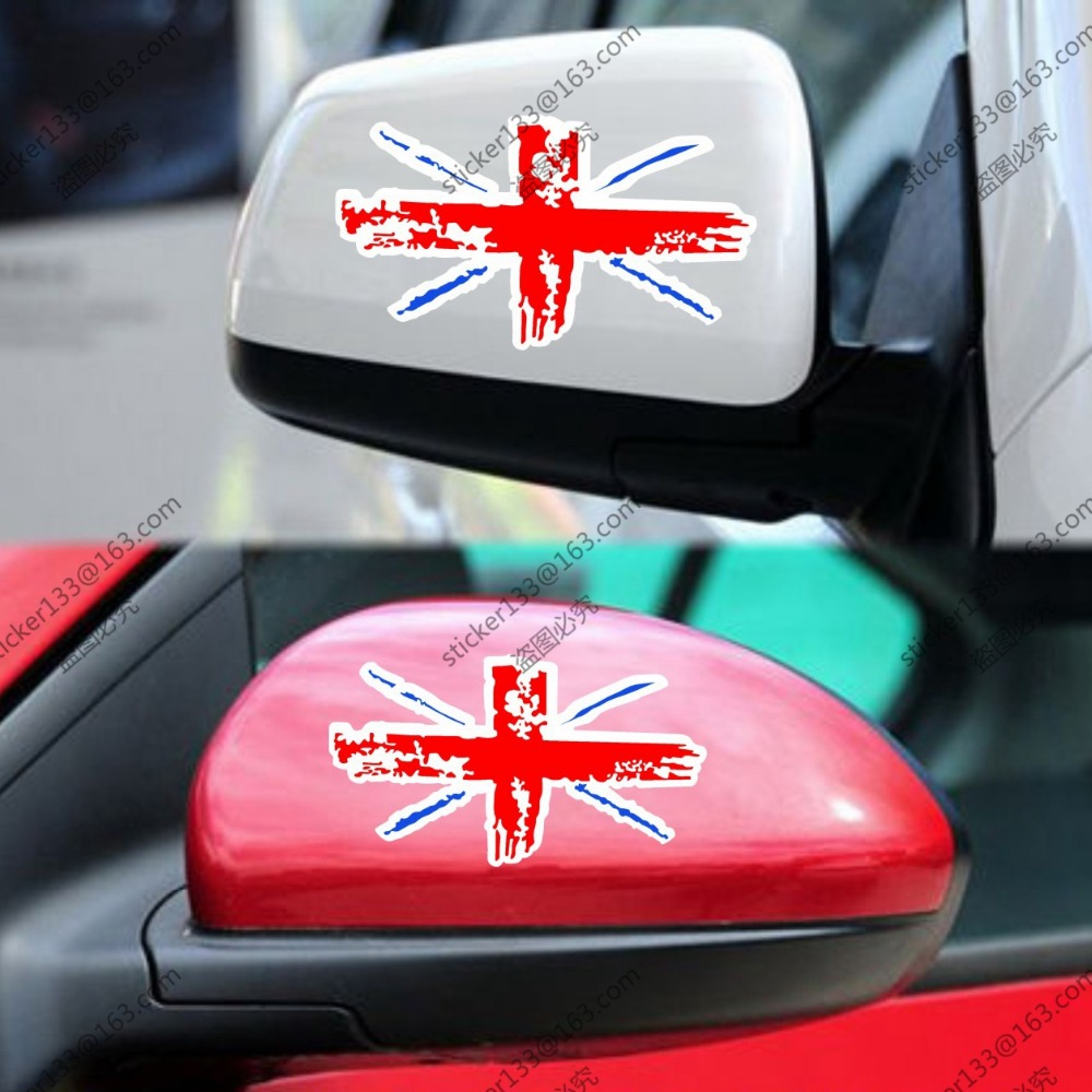 small resolution of 2 x flag of the uk style united kingdom union jack car trunk side mirror rearview decal sticker 13cm in car stickers from automobiles motorcycles on
